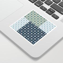 Vintage Tiles #society6 #pattern #indigo Sticker