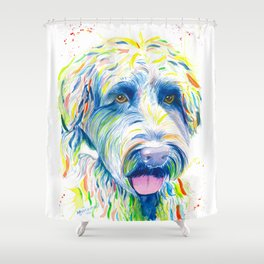 Maggie (The labradoodle) Shower Curtain