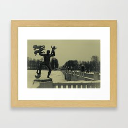 Mad father Framed Art Print