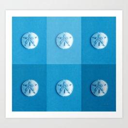 Sand Dollars - multiblues! Art Print