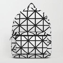 Diamond - black + white Backpack
