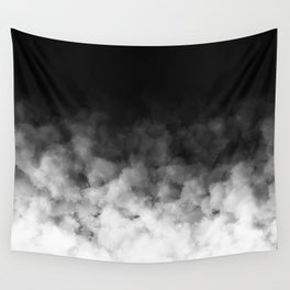 Ombre Black White Clouds Minimal Wall Tapestry