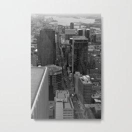 Montreal downtown in B&B Metal Print