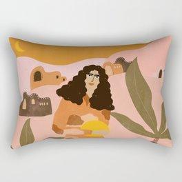 Orange Sky Rectangular Pillow