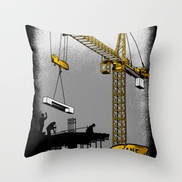 The Power of Tower Crane Throw Pillow