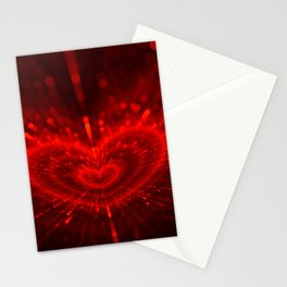 Cupid's Arrows | Valentines Day | Love Red Black Heart Texture Pattern Stationery Cards