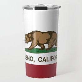 Fresno California Republic Flag Travel Mug