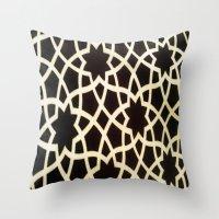 morocco Throw Pillows featuring Morocco by Mirabella Market