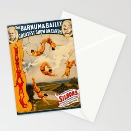 Vintage Barnum & Bailey Circus - Trapeze Stationery Cards