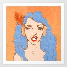 selfie girl_2 Art Print
