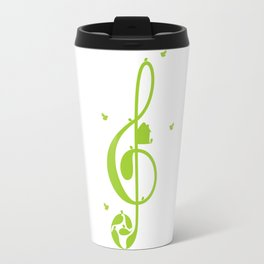 Treble clef and birds Travel Mug
