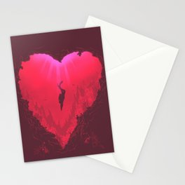 dive into your heart Stationery Cards