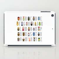muppet iPad Cases featuring Pixel Muppet Show Alphabet by PixelPower