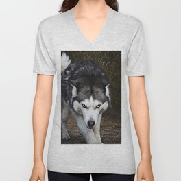 Angry Wolf (Color) Unisex V-Neck