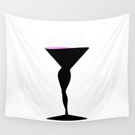 Sexy Champagne Glass Wall Tapestry