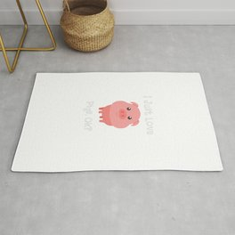 Cute & Funny I Just Love Pigs, OK? Baby Pig Rug
