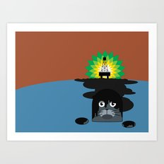 BP Oil Attack Art Print