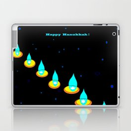 Happy Hanukkah, Chanukah, Menorah in the Dark Laptop & iPad Skin