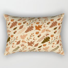 Autumn Leaves and Ladybugs Pattern Rectangular Pillow