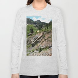Climbing to the Silver Crown Mine, at 10,832 feet Long Sleeve T-shirt