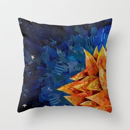 Star Bloom Collage Throw Pillow