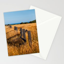 Golden Field By The Sea Stationery Cards