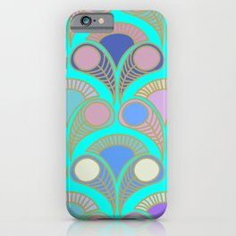 Peacock tail art déco pattern for home decoration iPhone Case