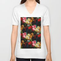 baroque V-neck T-shirts featuring baroque flora by arielle morris