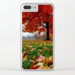 NYC Fall Leaves Clear iPhone Case