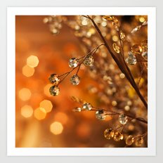 Sparkles in Gold Art Print
