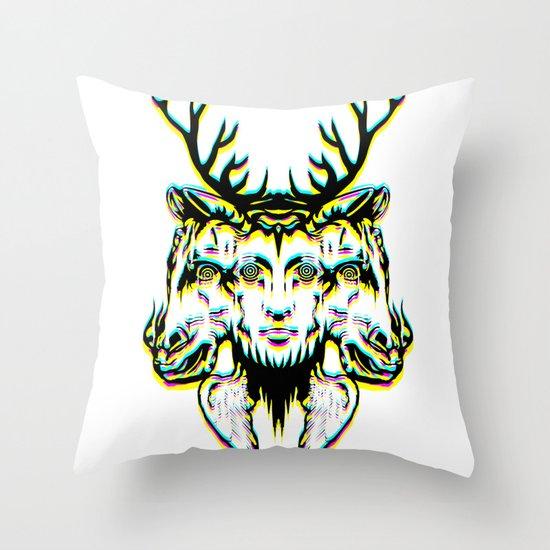 GOD II Psicho Throw Pillow