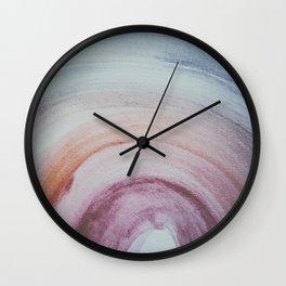 rainbow spectrum watercolor Wall Clock