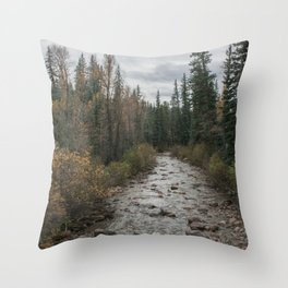 Rocky River Autumn Throw Pillow