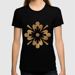 Abstract gold paper T-shirt