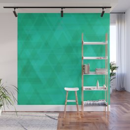 Bright marine triangles in intersection and overlay. Wall Mural