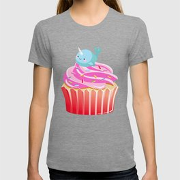Cute Narwhal T-shirt Cupcake Lovers Tee T-shirt