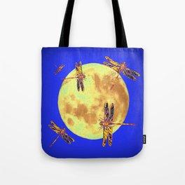Golden Dragonflies Love Moon Light Tote Bag