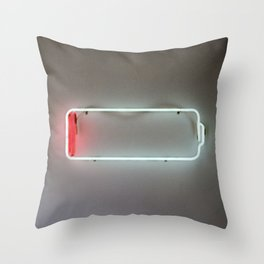 Low Battery Throw Pillow