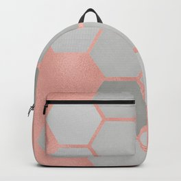 Honeycomb on Rose Gold Backpack
