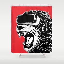 VR Lion Shower Curtain