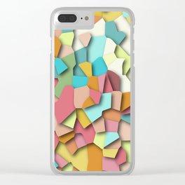 mosaic chaos Clear iPhone Case