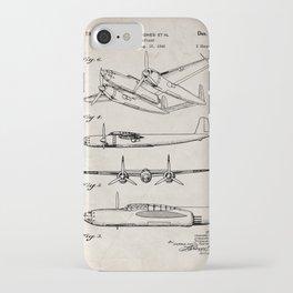 Hughes Lockheed Airplane Patent - Hughes Aviation Art - Antique iPhone Case