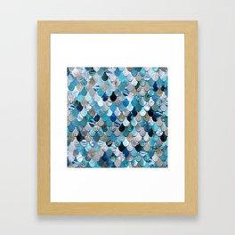 Mermaid Ocean Blue Framed Art Print