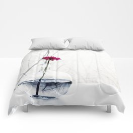 red flower Comforters