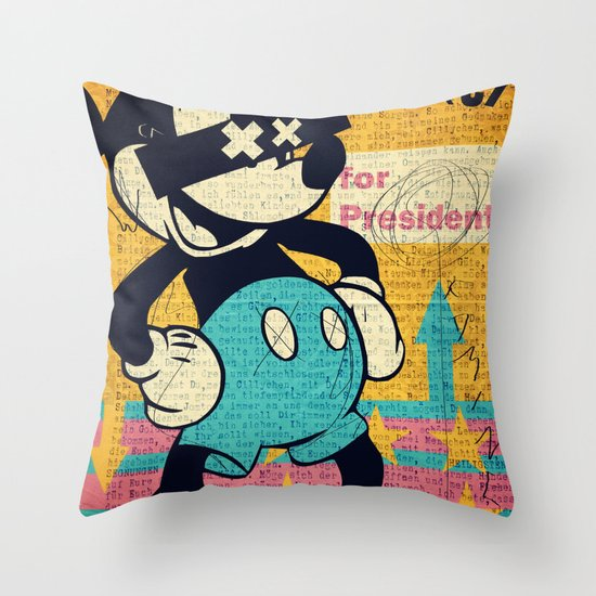 Tricky Mickey Throw Pillow
