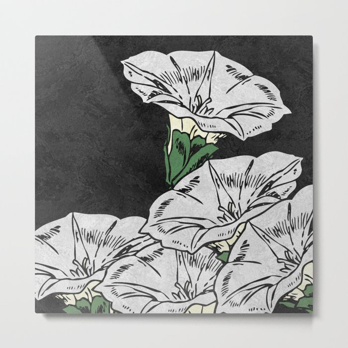 MARBLE FLOWERS (abstract) Metal Print