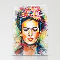 frida kahlo Stationery Cards featuring Frida Kahlo by Tracie Andrews