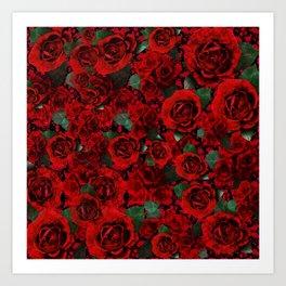 Roses on Roses Art Print
