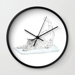Yoga Cat Wall Clock