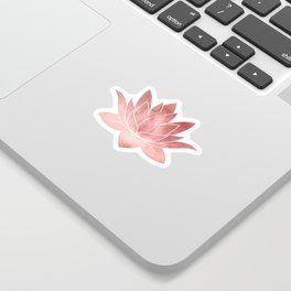 Pink Lotus Flower | Watercolor Texture Sticker